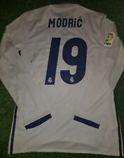 Luka MODRIC SIGNED Match Worn shirt Real Madrid Ronaldo player issue Croatia 79290014ee072