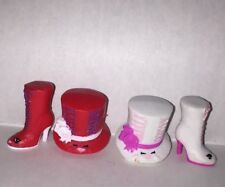 Shopkins Season 3 Toni Topper Hats Lizzy Lace-up Boots Shoes Rare Set Lot of 2 4