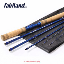 11.3ft Spinning Rod Carbon Fiber Fast Action Fly Fishing Pole w/ a Spare Tip Top