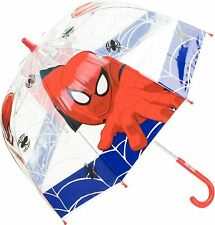 "Spiderman See Thru Umbrella 26"" (66cm) Blue"
