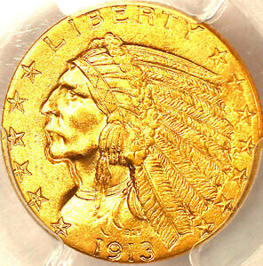 1913 $5 MS63 PCGS/PQ & CAC-ONLY 721 IN HIGHER GRADE-MINTAGE 915,901-INDIAN