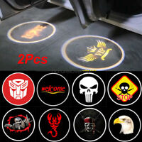 1 Pair Wireless LED Car Door Logo Projector light Step Welcome Laser Shadow Lamp