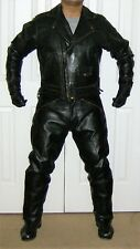 Langlitz Black Leather Columbia Motorcycle Jacket Sz 46 - Leather Lined Pocket!
