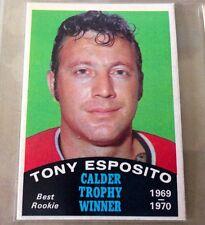 TONY ESPOSITO 1970-71 OPC HOCKEY 3 CARD LOT CHICAGO BLACKHAWKS