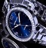 Excellanc Uhr Damenuhr Armbanduhr Blau Silber Farben Metall Strass Si 2