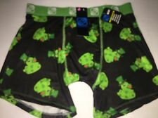 NWT FREEGUN LIFESTYLE LUCKY DUCKS BLACK RED GREEN BOXER BRIEFS MEN'S SIZE LARGE