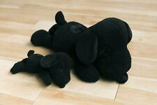 Kaws x Peanuts Black Snoopy Uniqlo Plush Toy Limited Edition Set SMALL AND LARGE