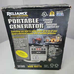 Reliance 30216BRK 6 Circuit Portable Generator Transfer Switch Kit