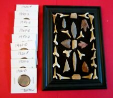 New listing Junk Drawer Coins Neolithic Arrowheads -Fossils