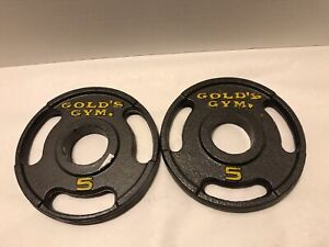 2 Gold's Gym Five Pound Weight Plates Two Inch
