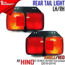 HINO KT 725 KB KL KR FUSO Truck Pair R L Tail Lights Rear For 2010-14 &Universal