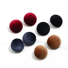 EG_ Women Fabric Round Button Ear Studs Earrings Fashion Party Jewelry Gift Prec