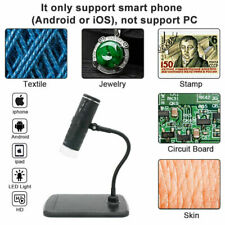 3 in 1 1000x Digital Microscope 8 LED 1080p HD Camera for PCB Soldering Inspect