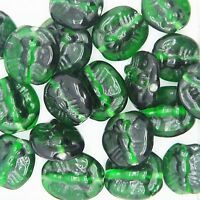 Glass Beads Green Matte Opaque Disc 3X7mm Made in India. Pack of 100