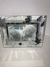 Target Home Friends Clear Glass Floral Picture Frame For 4 X 6 Photo *NEW*
