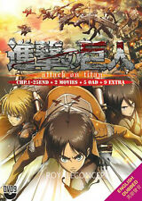 DVD Attack On Titan Vol 1-25 End+2 Movie+5 OAD+9 Extra English Sub
