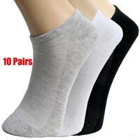 10Pairs Men Ankle Socks Summer Low Cut Crew Casual Sport Cotton Blend Socks Soft