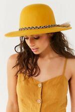 Brixton Stills Tiller Yellow Wool Hat Braided Tassel Band Size XS 54cm 6 3/4 New