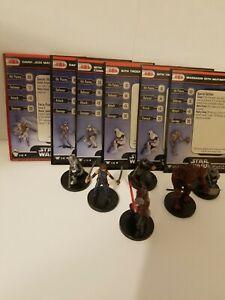 Star Wars Miniatures Dark Jedi Master & Dark Side Enforcer Sith Team Builder Lot