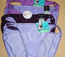 4 Vanity Fair Bikini Nylon Illumination Panty Set 8 XL 18108 Purple Shades NWT