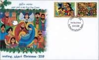 Sri Lanka Christmas StampFDC 2019 Art child Christ/Jesus birth Mary
