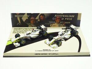 MINICHAMPS 1:43 BRAWN GP 1-2 FINISH BUTTON BARRICHELLO AUSTRALIAN GP 2009