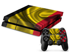 Sony PS4 PlayStation 4 Skin Design Sticker Screen Protector Set - Belgium Motif