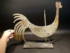 Antique Vintage Style Folk Art Wood & Metal Rooster Weathervane