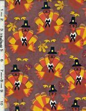 Turkey Thanksgiving fabric fall leaf 100% cotton fabric Springs creative
