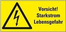 Warn-Kombischild Vorsicht! Starkstrom Lebensgefahr praxisbew. Folie 74x37mm