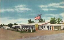 Redding CA Radio Motel Roadside Linen Postcard rpx