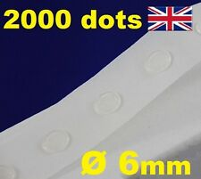 2000 Glue Dots Sticky Craft Clear Card Making Scrap Removable 6mm EASY TACK