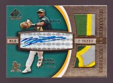 Miguel Tejada Autograph Patch #04/25 2004 SP Game Used Jersey Auto Athletics