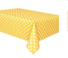 POLKA DOTS PLASTIC TABLECOVER,  SPOTS PARTY  TABLE CLOTH  TABLEWARE DECORATION