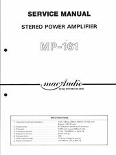 MacAudio Service Manual für MP-161