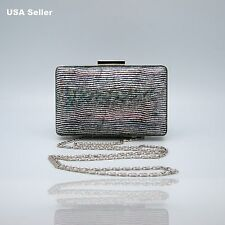 Cute Assorted Colors Rectangular Box Case Clutch Party Purse Prom Evening Bag
