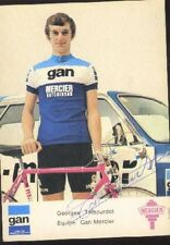 GEORGES TALBOURDET cyclisme ciclismo Signed GAN MERCIER 70s Cycling autographe