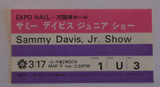 SAMMY DAVIS Jr   Ticket  de  concert  OSAKA 1970