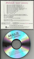 ANJULIE Boom 10 REMIXES PROMO CD Single Brazilian Girls