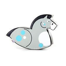 Implay Soft Play PVC Foam Children's Grey Horse Rocker Activity Toy