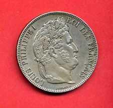 ( RF.41)  5 FRANCS LOUIS PHILIPPE 1847 W LILLE (SUP-) Différent CORNUE (RARE)