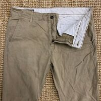 Levi's Strauss Vintage Beige Jeans Trousers Chinos Pants W32 L32 Zip Fly