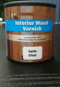 236ML QUICK DRY CLEAR SATIN INTERIOR WATER BASED CLEAR WOOD VARNISH