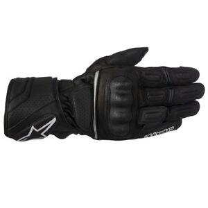Alpinestars SP-Z Black SPZ Gloves Drystar Leather Waterproof Motorcycle Gloves