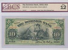 The Dominion Bank 1910 $10 F-12