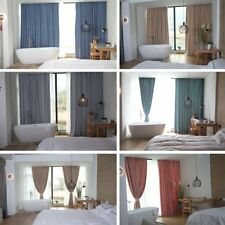 Plain Thermal Blackout Curtains Ready Made Eyelet Bedroom Darkening Home Soft