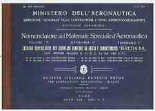 BREDA 88 LINCE 1939 CA509 AIRCRAFT AVIAZIONE REGIA AERONAUTICA Nomenclatore  DVD