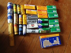 Expired/Sealed Lot of 36 Rolls 120 film Kodak/ FUJI/ILFORD/others EXPIRED AS IS