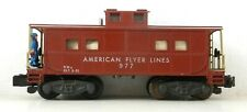 AMERICAN FLYER Gilbert S #977 Action CABOOSE w/ Figure ~  T148