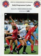 Hockey World Cup 1986 Daily Programme update 13.10.1986